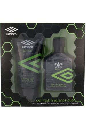 Umbro Action Eau de Toilette 75ml Combo: EDT 75 Ml + Shower Gel 150 Ml