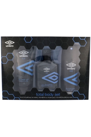 Umbro Ice Eau de Toilette 75ml Combo: EDT 75 Ml + Shower Gel 150 Ml + Deodorant 150 Ml