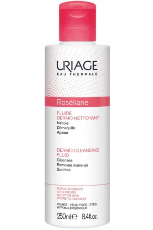 Uriage Eau Thermale Roséliane Dermo-Cleansing Fluid Face Cleansers 250ml (Alcohol Free)
