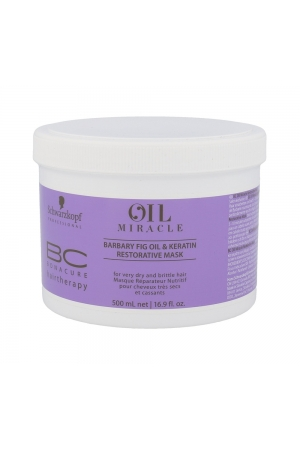 Schwarzkopf Bc Bonacure Oil Miracle Barbary Fig & Keratin Hair Mask 500ml (Brittle Hair - Dry Hair)