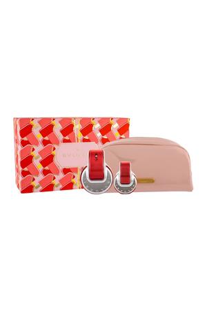 Bvlgari Omnia Coral Eau De Toilette 65ml Combo Edt 65 Ml + Edt 15 Ml + Cosmetic Bag