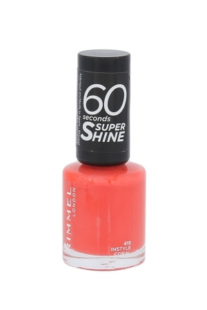 Rimmel London 60 Seconds Super Shine Nail Polish 8ml 415 Instyle Coral