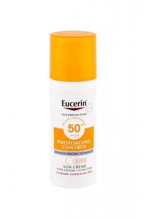 Eucerin Sun Photoaging Control Cc Cream Face Sun Care 50ml Waterproof Spf50+ Medium