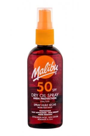 Malibu Dry Oil Spray Sun Body Lotion 100ml Waterproof Spf50
