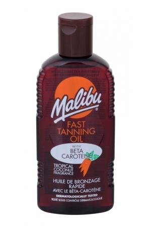 Malibu Fast Tanning Oil Sun Body Lotion 200ml Waterproof