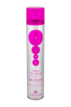 Kallos Cosmetics Kjmn Silk Protein Hair Spray 500ml (Extra Strong Fixation)