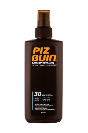 Piz Buin Moisturising Ultra Light Sun Spray Sun Body Lotion 200ml Waterproof Spf30