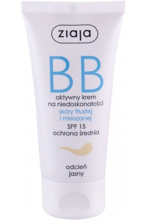 Ziaja BB Cream Oily and Mixed Skin SPF15 BB Cream Light 50ml