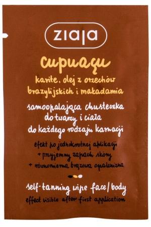 Ziaja Cupuacu Self-Tanning Wipe Face & Body Self Tanning Product 1pc