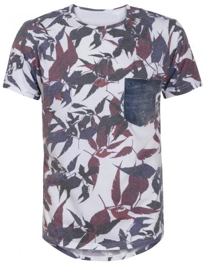Εμπριμέ T-Shirt με Τσέπη
