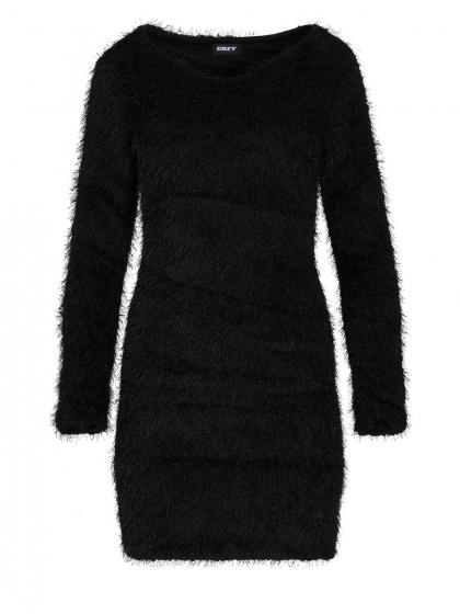 Μίνι Εφαρμοστό Φόρεμα Faux Fur