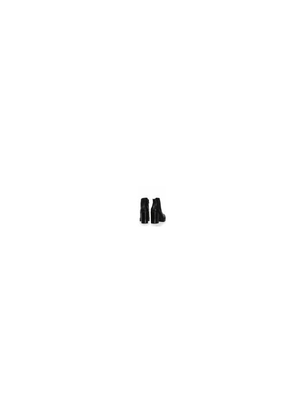 Μποτάκι με Τακούνι και Λεπτομέρεια Λάστιχα-Μαύρο